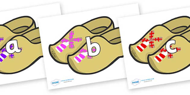 Phase 2 Phonemes on Wooden Shoes - Phonemes, phoneme, Phase 2, Phase two, Foundation, Literacy, Letters and Sounds, DfES, display