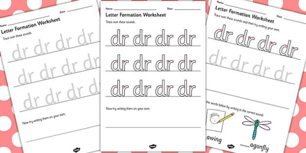 Phase 4 Initial Blends Letter Formation Worksheets SEN - phase 4