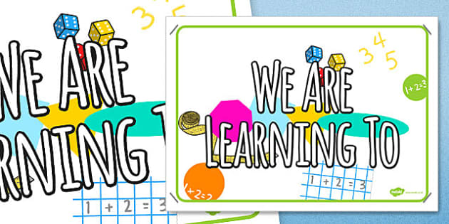 We Are Learning To Display Poster - we are learning to, poster, display