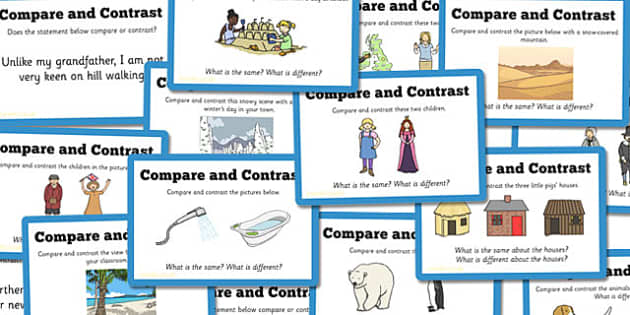 Guided Reading Skills Task Cards Compare and Contrast - reading