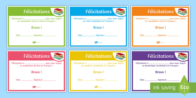 French End of Year Vocabulary Award Certificate - French, End of Year, Award, Certificates, certificat, vocabulaire, vocabulary - French, End of Year, Award, Certificates, certificat, vocabulaire, vocabulary