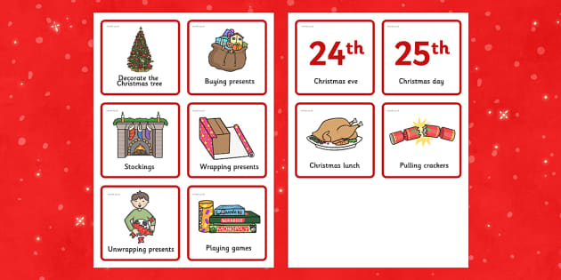 Christmas Visual Timetable - timetables, festivities, celebrate