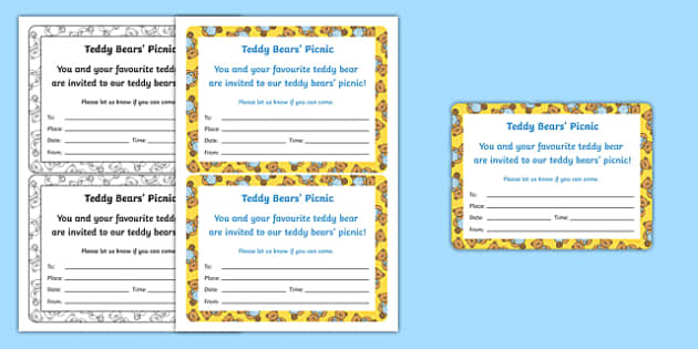 Teddy Bears' Picnic Invitation