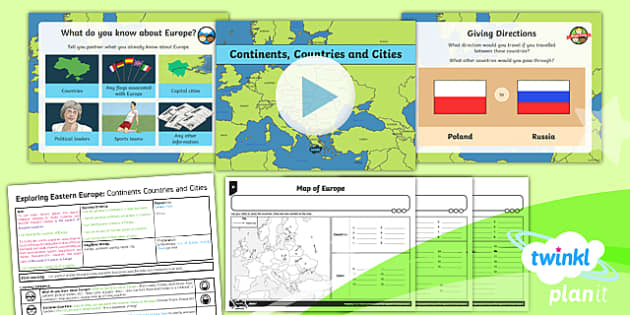 PlanIt - Geography Year 5 - Exploring Eastern Europe 1: Continents, Countries and Cities Lesson Pack