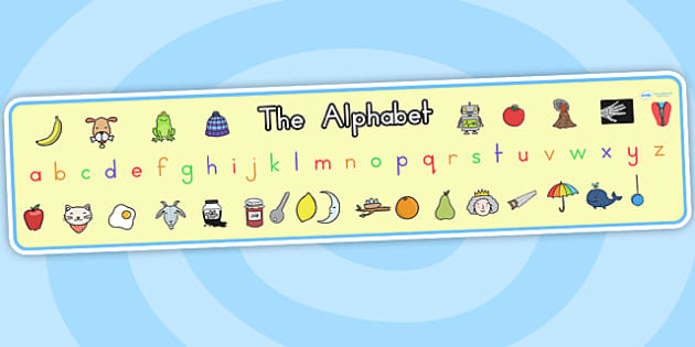 Alphabet Display Banner - alphabet, a-z, display banner, banner