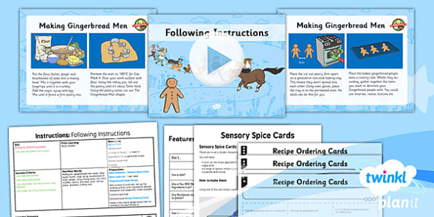 PlanIt Y2 The Gingerbread Man Lesson Pack Instructions (1) - traditional stories, traditional tales, cooking, baking, command