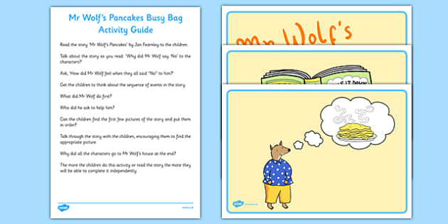 Mr Wolf's Pancakes Busy Bag Resource Pack for Parents - EYFS, Pancake Day, Shrove Tuesday