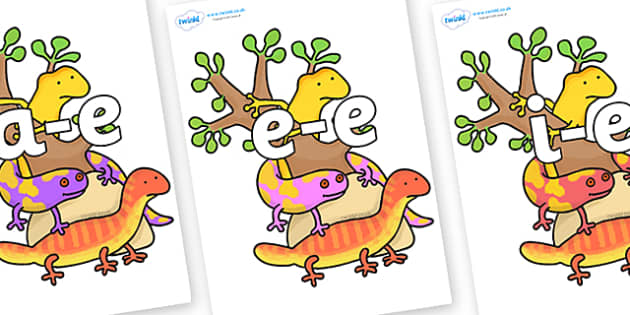 Modifying E Letters on Reptiles to Support Teaching on The Great Pet Sale - Modifying E, letters, modify, Phase 5, Phase five, alternative spellings for phonemes, DfES letters and Sounds