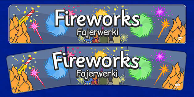 Bonfire Night Banners Fireworks Polish Translation - polish, bonfire night, banners