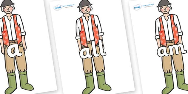 Foundation Stage 2 Keywords on Farmer to Support Teaching on Pig in the Pond - FS2, CLL, keywords, Communication language and literacy,  Display, Key words, high frequency words, foundation stage literacy, DfES Letters and Sounds, Letters and Sounds,
