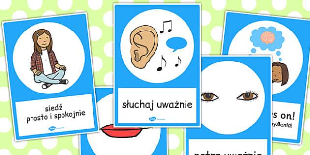 Plakat  Uwazne sluchanie po polsku - materialy edukacyjne , Polish