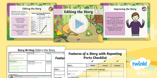 PlanIt Y1 Animals: to Support Teaching on Dear Zoo Lesson Pack Story Writing (3) - Dear Zoo, animals, stories, repeating parts, plan, write, edit