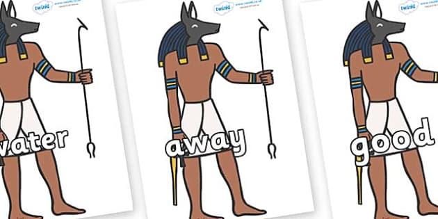 Next 200 Common Words on Egyptian God - Next 200 Common Words on  - DfES Letters and Sounds, Letters and Sounds, Letters and sounds words, Common words, 200 common words