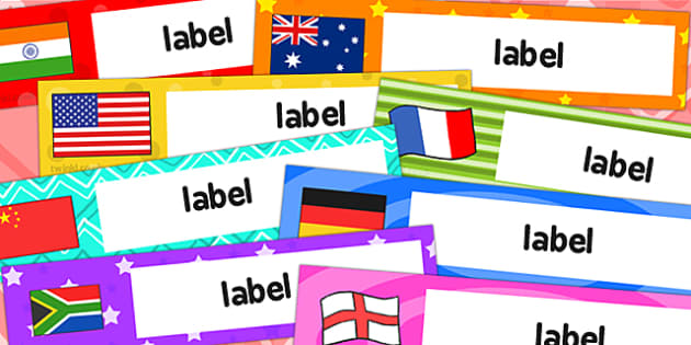 Flag Themed Editable Gratnells Tray Labels - flag, tray labels