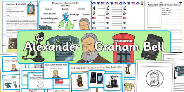 Alexander Bell Significant Individual Teaching Lesson Pack - pack