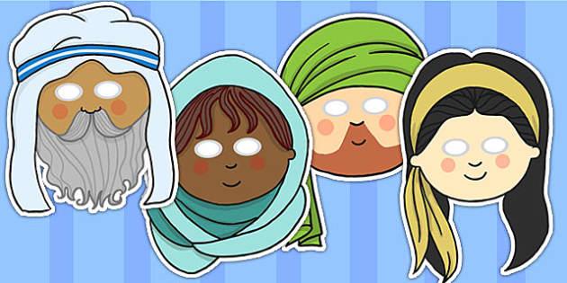 Israelite Men and Women Christianity Roleplay Masks - RE, masks