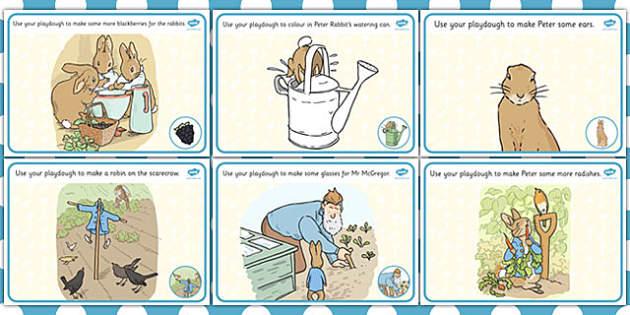 The Tale of Peter Rabbit Playdough Mats - rabbit, playdough mats