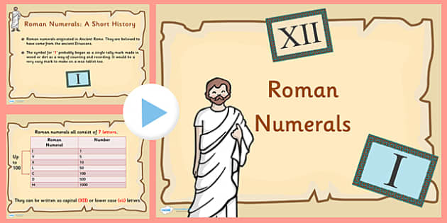 Roman Numerals to 100 Introduction and Activity PowerPoint