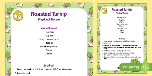 Roasted Turnip Playdough Recipe