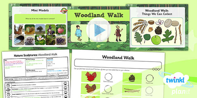 PlanIt - Art KS1 - Nature Sculptures Lesson 3: Woodland Walk Lesson Pack