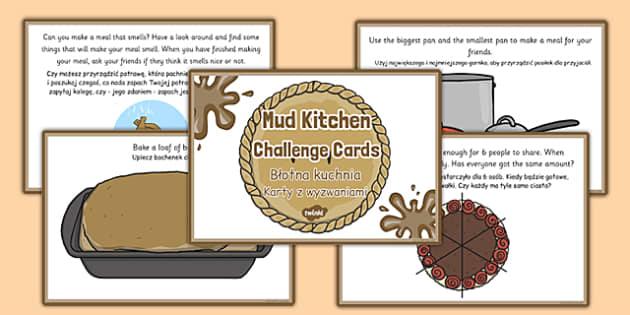 Mud Pie Kitchen Role Play Challenge Cards Polish Translation - polish, mud pie kitchen, role-play