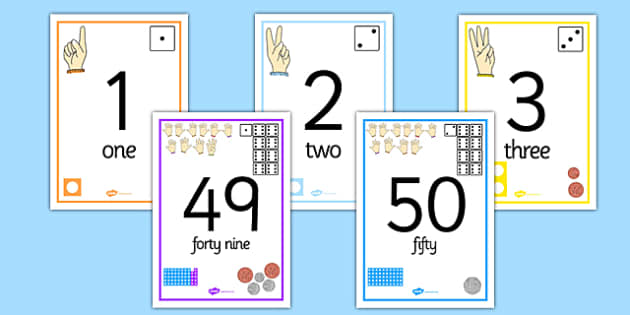 Visual Number Line Posters 0-50 - visual, number line, posters, display, 0-50, numberline