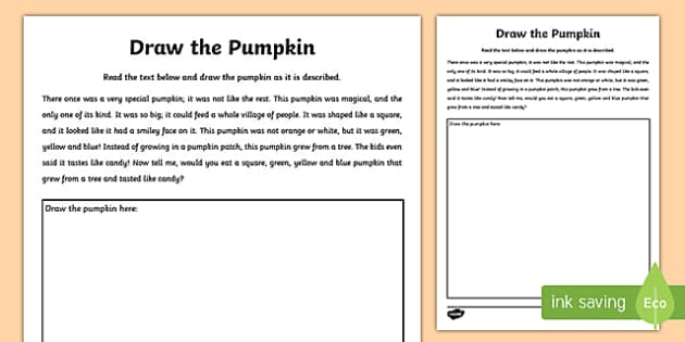 Draw the Pumpkin Activity Sheet