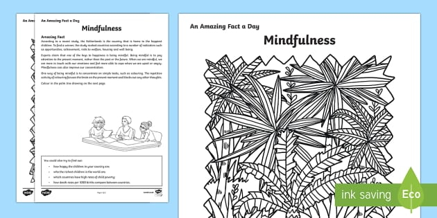 Mindfulness Activity Sheet - Amazing Fact Of The Day, activity sheets, powerpoint, starter, morning activity, December, mindfulne