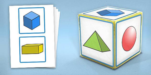 Giant Foam Dice Squares 3D Shapes - foam dice, squares, 3d, shape