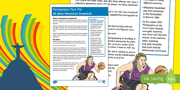 Rio Paralympics 2016: All About Wheelchair Basketball   Fact File