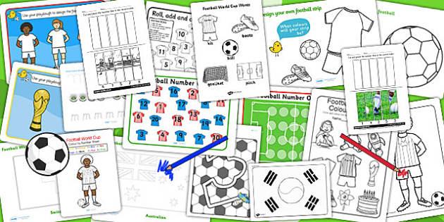 Football World Cup Fine Motor Skills Pack - sports, sport, pe