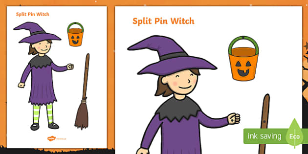 Split Pin Witch Activity