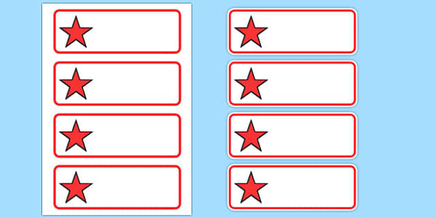 Editable Red Stars Drawer, Peg, Name Labels - Editable Label Templates, star, stars, Resource Labels, Name Labels, Editable Labels, Drawer Labels, Coat Peg Labels, Peg Label, KS1 Labels, Foundation Labels, Foundation Stage Labels, Teaching Label