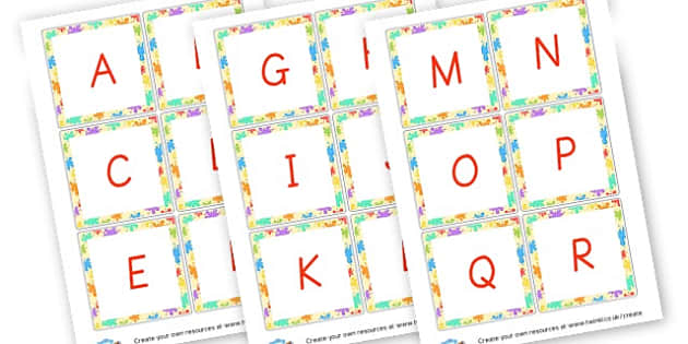 Uppercase Alphabet Cards - Alphabet Cards & Mats Primary Resources, letters, letter, word mat