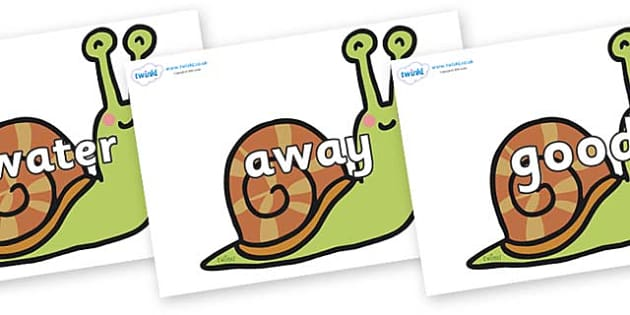 Next 200 Common Words on Snails - Next 200 Common Words on  - DfES Letters and Sounds, Letters and Sounds, Letters and sounds words, Common words, 200 common words