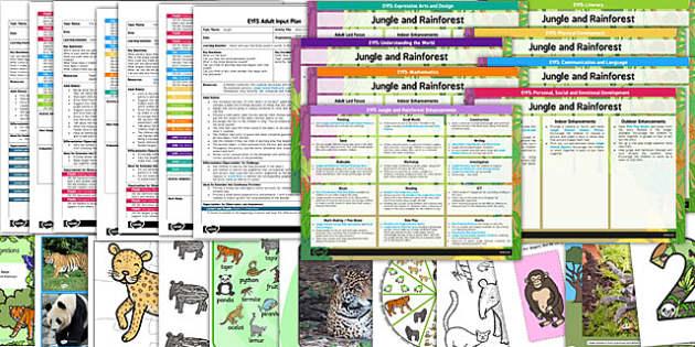 EYFS Jungle and Rainforest Themed Bumper Planning Pack - jungle