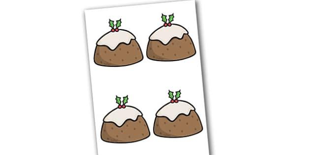 Christmas Puddings Editable  - christmas, puddings, editable