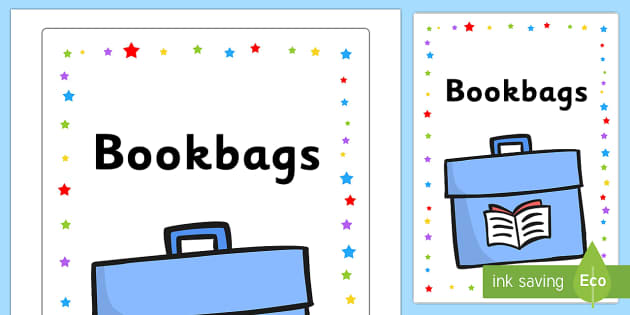 Bookbags Label - Cloakroom & Toilet Area Primary Resources, toilets, signs, rules