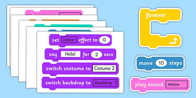 Scratch Blocks For Display - scratch, blocks, program, display