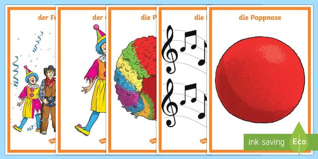 Faschingswörter Poster DIN A4 - Fasching, Fastnacht, Karneval, Wortschatz, Fasnet,German