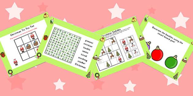 Christmas Activity Pack IWB - christmas, activity, pack, xmas, winter