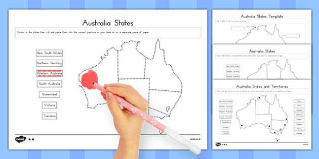 Australian States and Territories Activity - australia, states, territories