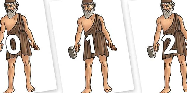 Numbers 0-50 on Hephaestus - 0-50, foundation stage numeracy, Number recognition, Number flashcards, counting, number frieze, Display numbers, number posters