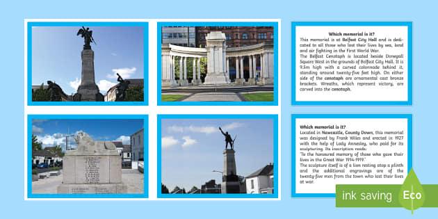First World War Northern Ireland War Memorials Photo Pack