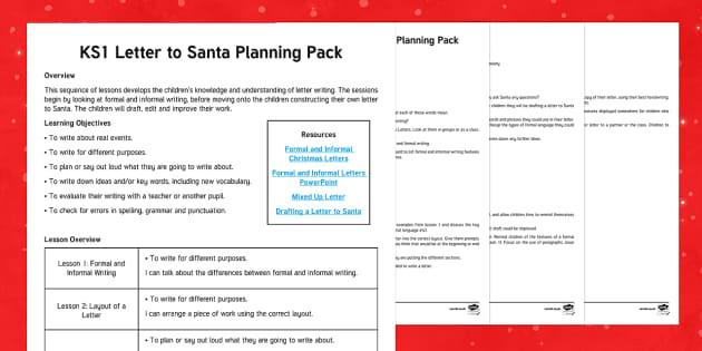 Formal and Informal Letters Lesson Plan - Christmas, Nativity, Jesus, xmas, Xmas, Father Christmas, Santa, St Nic, Saint Nicholas, traditions,