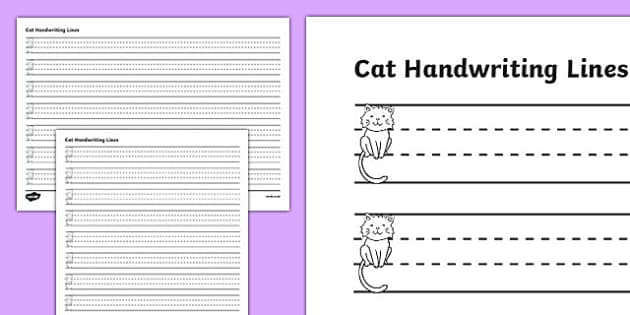 Cat Thirds Handwriting Lines - cat, thirds, handwriting lines, handwriting, writing