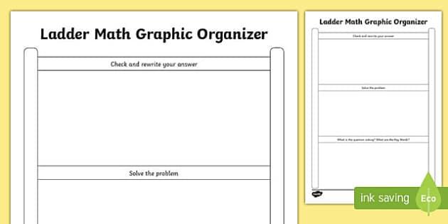 Problem Solving Ladder Math Graphic Organizer