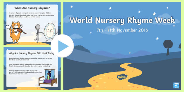 World Nursery Rhyme Week Information PowerPoint for Adults PowerPoint