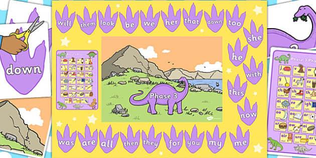 Ready Made Phase 3 Dinosaur Display Pack - ready made, phase 3