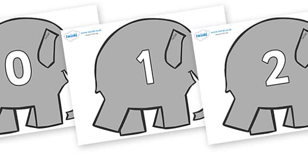 Numbers 0-100 on Elephants to Support Teaching on Elmer - 0-100, foundation stage numeracy, Number recognition, Number flashcards, counting, number frieze, Display numbers, number posters